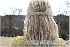 Cute hairstyle on hairstyling blog
