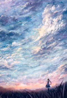 Pin by trie wahyuni on anime arte paisajes, paisajes anime, Art Manga, Anime Art, Sky Anime, Yuri Anime, Manga Anime, Sf Wallpaper, Mobile Wallpaper, Image Manga, Anime Kunst