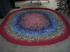 Stash buster - crochet rug