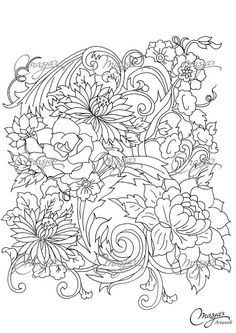 Hey, I found this really awesome Etsy listing at https://www.etsy.com/listing/166925507/masjas-flowers-coloring-page-1