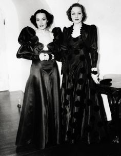 Dolores Del Rio and Marlene Dietrich