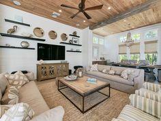 neutral family room | Nest Interior Design