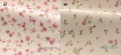 Flower Fabric Pink Flower FabricShabby Chic by seasonalsupplies