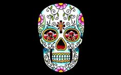GIPHY is your top source for the best & newest GIFs & Animated Stickers online. Find everything from funny GIFs, reaction GIFs, unique GIFs and more. Sugar Skull Tattoos, Sugar Skull Art, Sugar Skulls, Mexican Skulls, Mexican Art, Samhain, Caveira Mexicana Tattoo, Mexico Day Of The Dead, Halloween Bride