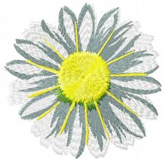 Chamomile free embroidery design 9 - Flowers free machine embroidery designs - Machine embroidery community