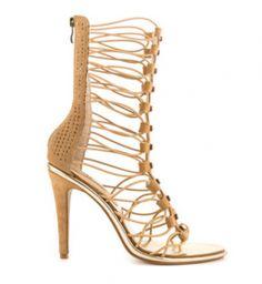 Shoe-tensity: Black Tan Brown Rhinestone Gladiator Multi Loop Strap High Heel Mid Chin Open Toe Shoes