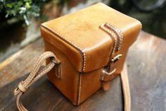 Handmade Tanned Leather Camera Shoulder Bag