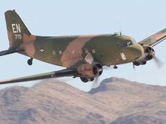 Cool photos and descriptions by a professional aviation photographer of the aircraft flying at Nellis Air Force Base Aviation Nation airshow near Las Vegas, Nevada. Ww2 Aircraft, Fighter Aircraft, Fighter Jets, Military Jets, Military Aircraft, Ghost Rider, Puff The Magic Dragon, Dakota, Old Planes
