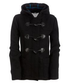 Solid Wool Hooded Jacket. Dear Santa, I Want This For Christmas!!! ;)