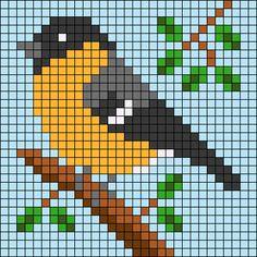 Cross Stitch Bird, Cross Stitch Needles, Simple Cross Stitch, Cross Stitch Animals, Cross Stitch Charts, Cross Stitch Designs, Cross Stitching, Cross Stitch Embroidery, Cross Stitch Patterns