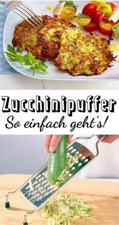 Zucchini Buffer – the simple recipe Simply made and really delicious: ours for zucchini buffers! The post Zucchini Buffer – the simple recipe appeared first on Woman Casual - Food and drink Soup Appetizers, Appetizer Recipes, Snack Recipes, Dinner Recipes, Healthy Snacks, Healthy Eating, Healthy Recipes, Simple Snacks, Zucchini Puffer