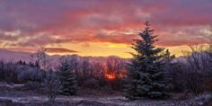 """""""The last sunrise of the Year 2013. Captured from the A-Frame Road within Canaan Valley National Wildlife Refuge."""" - by BK Photography"""