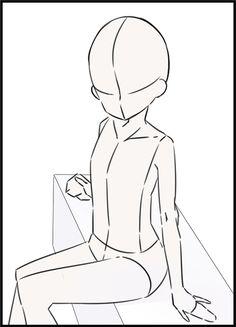 Manga Drawing Tutorials, Drawing Templates, Drawing Techniques, Art Tutorials, Body Sketches, Art Drawings Sketches, Drawing Base, Figure Drawing, Poses Manga