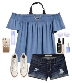 Untitled #67 by gabyleoni on Polyvore featuring polyvore, fashion, style, H&M, Hollister Co., Converse, Kendra Scott, Casetify, Ray-Ban, Bobbi Brown Cosmetics, Victoria's Secret PINK, Old Navy, Essie and clothing