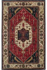 Surya Ancient Treasures x Rectangle Wool Hand Tufted Traditional A Red Rugs Area Rugs Wool Area Rugs, Carpet Runner, Navy Area Rug, Tufted, Rugs, Blue Rug, Oriental Wool Rugs, Traditional Rugs, Area Rugs