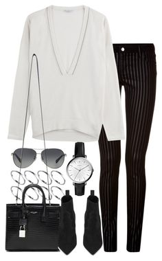 """""""Untitled #7967"""" by nikka-phillips ❤ liked on Polyvore featuring ASOS, Coach, FOSSIL, Faith Connexion, Brunello Cucinelli and Yves Saint Laurent"""