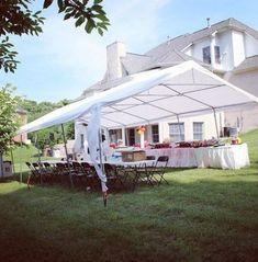 New backyard wedding tent camping ideas Outdoor Tent Party, Diy Party Tent, Diy Tent, Outdoor Games, Backyard Swings, Backyard Pool Landscaping, Backyard Ideas, Party Tent Decorations, Backyard Birthday