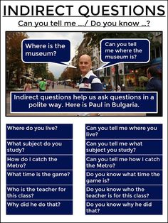 AskPaulEnglish: INDIRECT QUESTIONS #tefl #tesol #learnenglish #grammar