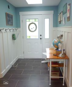 vintage school house entry hall door 1 room 3 ways at thehappyhousie
