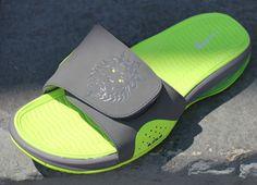Nike Air LeBron 9 Slide - Cool Grey / Volt | KicksOnFire
