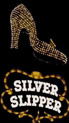 Vintage Las Vegas neon sign Silver Slipper Hotel and Casino