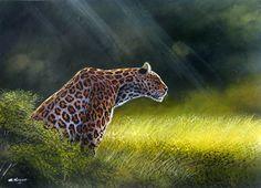 Stalking Leopard by Geoffrey Mugwe of Nairobi, Kenya Kenyan Artists, Panther, Giraffe, Africa, Nairobi, Nature, Animals, Felt Giraffe, Naturaleza