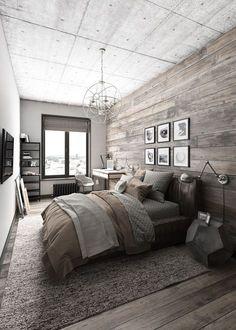 Rustic cabin bedroom by Timothy Johnson Design | Pinterest | Cabin ...