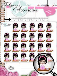 Emely School Stickers Book Reading Stickers by EmelysPlannerShop