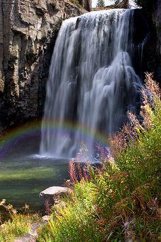 Rainbow Falls - Mammoth Lakes, California by Phuoc Phan