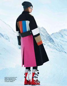 Skiing Couture Editorials - The Alma Durand Elle France Fashion Story Hits the Slopes Ski Fashion, Winter Fashion, Fashion Outfits, Womens Fashion, Fashion Trends, Sporty Fashion, Fashion Photo, Moncler, Mode Au Ski