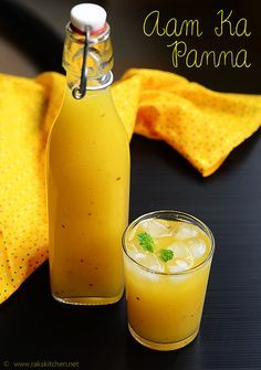 Aam ka panna is an interesting and lip smacking Indian drink made with raw mango. Authentically it is made by roasting the mango in coal fire, but I… Juice Smoothie, Smoothie Recipes, Smoothies, Fruit Juice, Aam Panna Recipe, Kulfi Recipe, Easy Cooking, Cooking Recipes, Indian Food Recipes