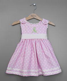 Pink Polka Dot Sash Initial Jumper - Infant, Toddler & Girls by Princess Linens #zulily #zulilyfinds