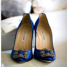 Carrie's blue Manolo's from the first Sex & The City movie. Die for these.