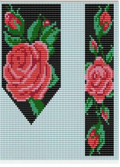 Floral Pattern Design - Trend Topic For You 2020 Loom Bracelet Patterns, Bead Loom Bracelets, Bead Loom Patterns, Beaded Jewelry Patterns, Peyote Patterns, Beaded Banners, Beading Patterns Free, Beading Projects, Loom Beading