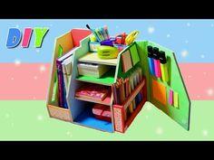 (16) DIY.Настольный органайзер своими руками.Организация рабочего стола/Organizer.Hand made. - YouTube