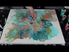 Fluid Paint with a Hair Dryer   Coral Burst - YouTube