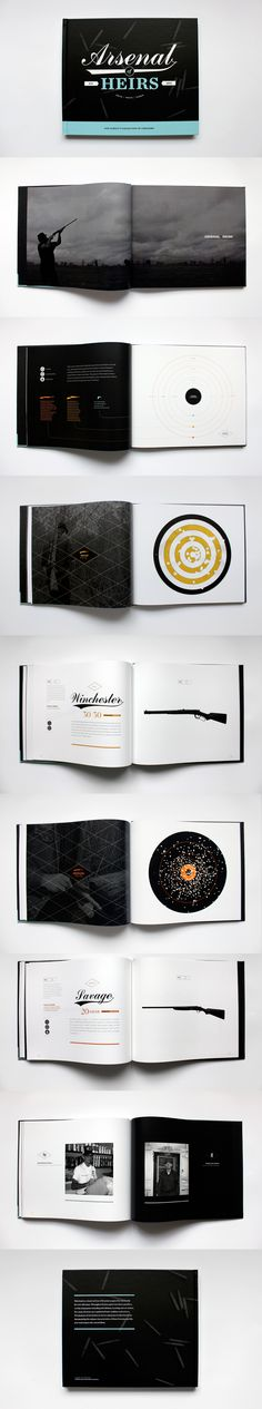 Arsenal Heirs book design and layout || Designer: Kyle White #square #mini