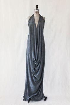 Draped Halter Dress - Custom OOAK - WhiteWash Collection