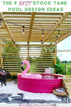 The 9 BEST stock tank pool ideas - the most creative DIY stock tank swimming pools including painted stock tank pools, pool liners inside the stock tank Piscina Diy, Stock Pools, Stock Tank Pool, Diy Swimming Pool, Kiddie Pool, Swimming Memes, Galvanized Stock Tank, Pool Designs, Bench Designs