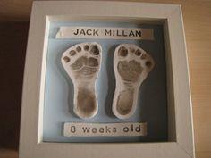 DIY Baby Footprint Keepsake by Kirsten Earl, marthastewart