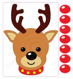 Stick the Nose on Rudolph Game - Restickable Poster