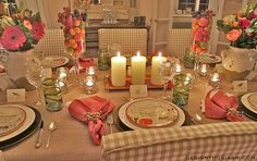 The inspiration for this setting came from two places. First, was our upcoming trip to Tuscany to visit our daughter who was studying there and, second, was the Italian recipe salad plates that we had received as a gift some time ago. The plates from Williams-Sonoma I initially had only four of and they were …