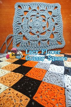 Lacy Flower Granny Square – Free Crochet Pattern & Video tutorials by Meladora's Creations
