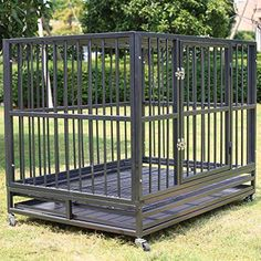 Heavy Duty Dog Cage Crate Kennel Metal Double Door Pet Playpen Portable w/Tr. Heavy Duty Dog Cage Crate Kennel Metal Double Door Pet Playpen Portable w/Tray Black NEW Big Dog Cage, Large Dog Cage, Pet Cage, Metal Dog Kennel, Diy Dog Kennel, Large Dog Carrier, Heavy Duty Dog Crate, Portable Dog Kennels, Puppy Training Guide