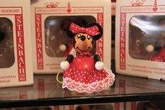 A fun Walt Disney World merchandise article - includes Steinbach Mickey & Minnie vintage-style ornaments in Epcot, Italian serving spoons, Disney style; Limited Time Magic ornaments and much more! #disney #Christmas #mickey #minnie