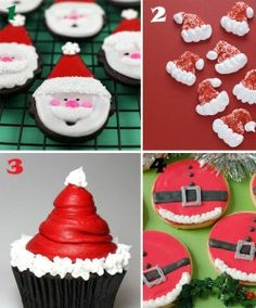 Easy-Santa-Cookie-and-Cupcake-Ideas