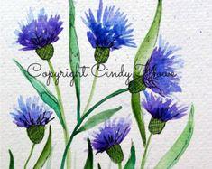 Digital art digital download blue flower by ArtworksEclectic