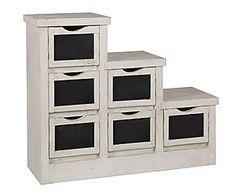 Mueble de escalera en madera de mango – blanco y negro