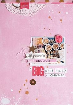 #papercraft #scrapbook #layout. all you need is... by scissorsglue_paper at @studio_calico