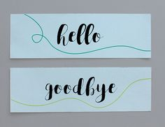 Paper Street Co. - Hello & Goodbye Bookmark / Kitap Ayracı   #kitapayracı #bookmark #paperstreet #papergoods
